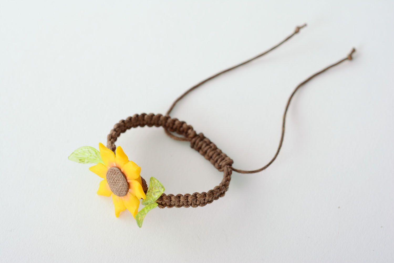 Handmade Armband mit Blume foto 3