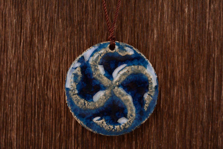 Clay pendant amulet Svarog photo 4