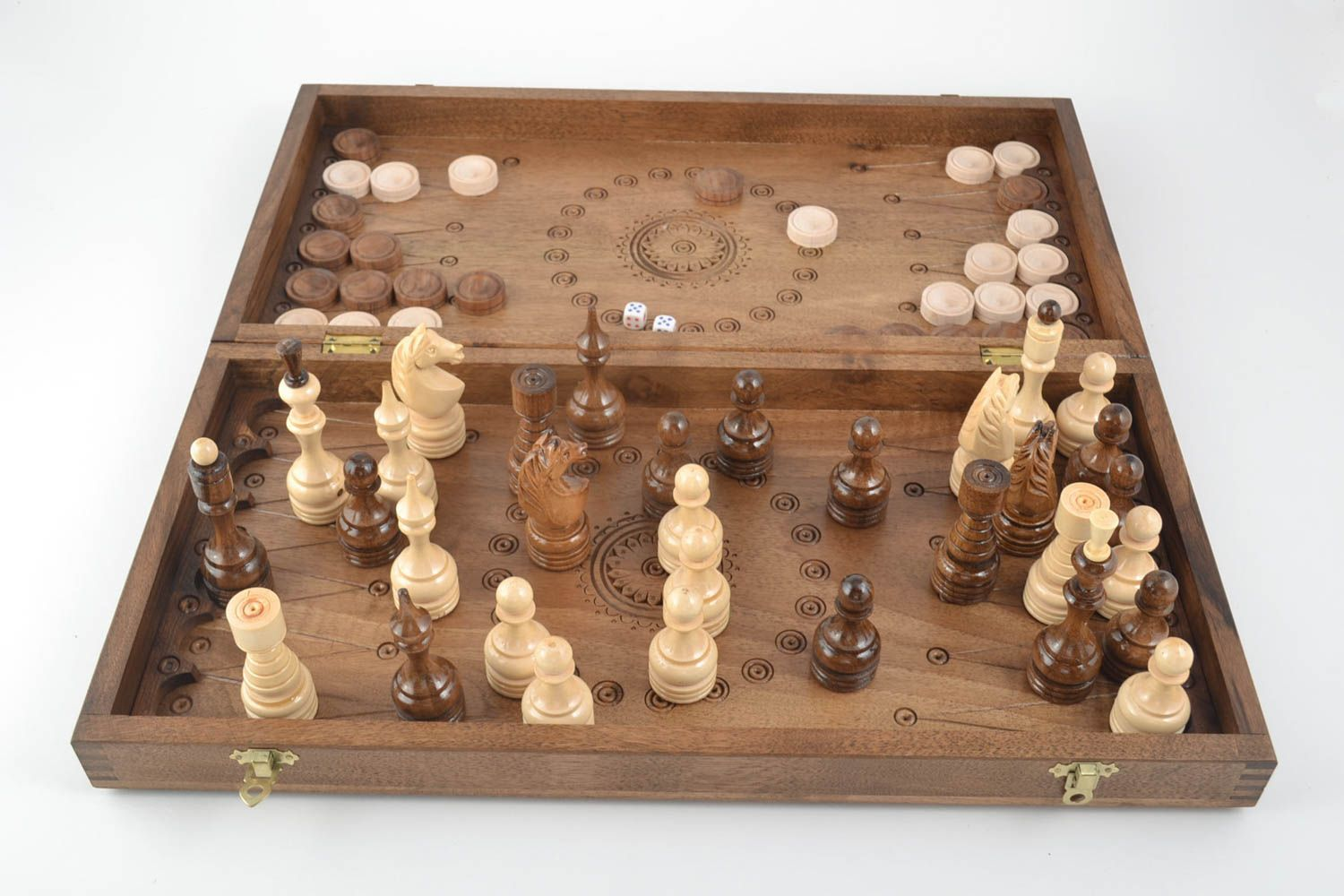 Handmade board games wooden chessboard chess pieces best gifts for him photo 3