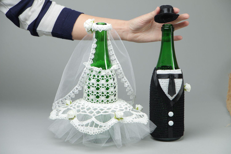 Madeheart decoraci n para botellas de boda hecha a mano for Decoracion de accesorios