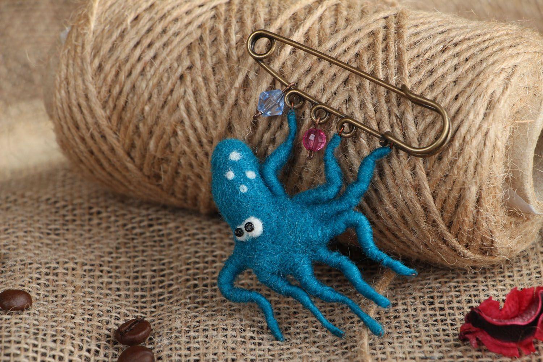 Woolen brooch Octopus photo 5