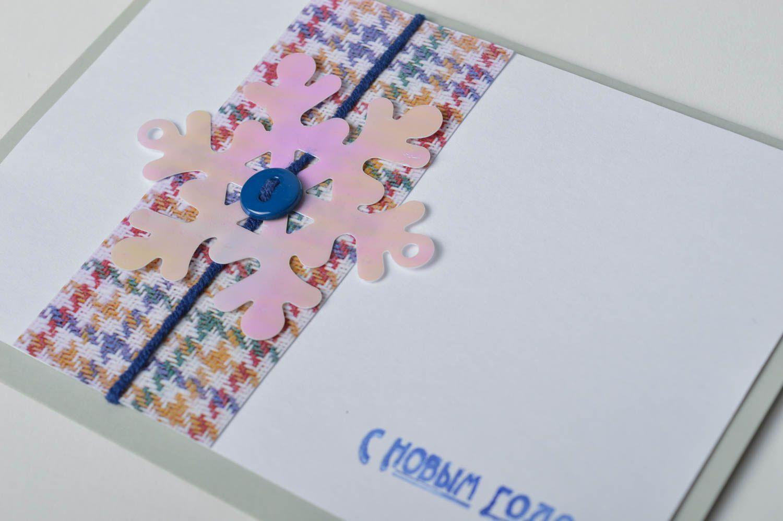 Handmade Christmas card homemade cards New Year greeting card souvenir ideas photo 3