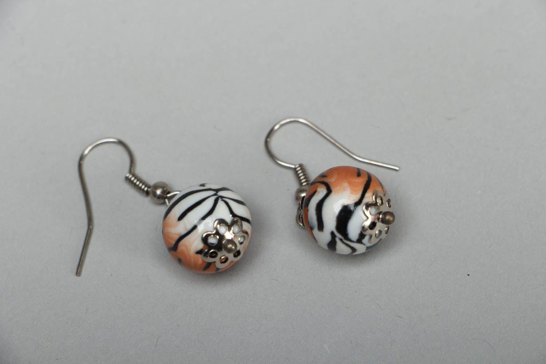 Handmade Ohrringe aus Polymerton Tiger  foto 2