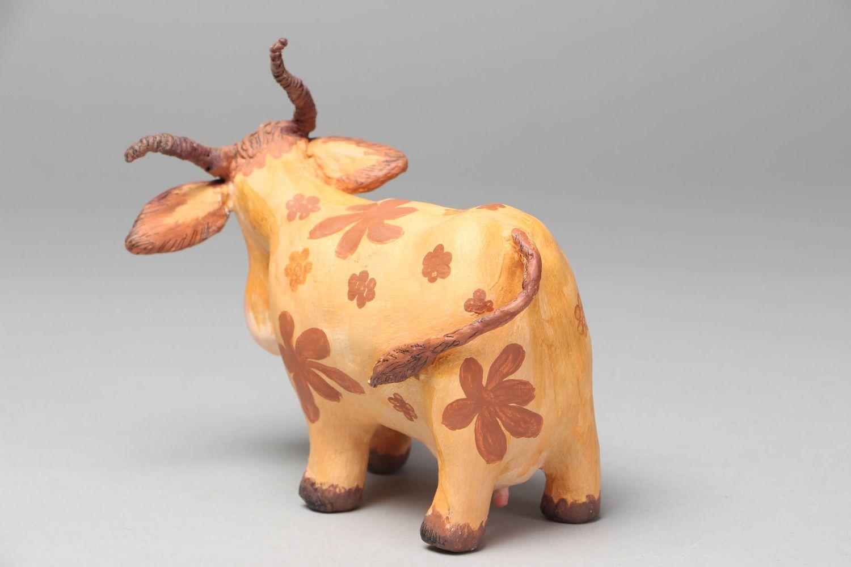 Paper mache figurine Cow photo 3