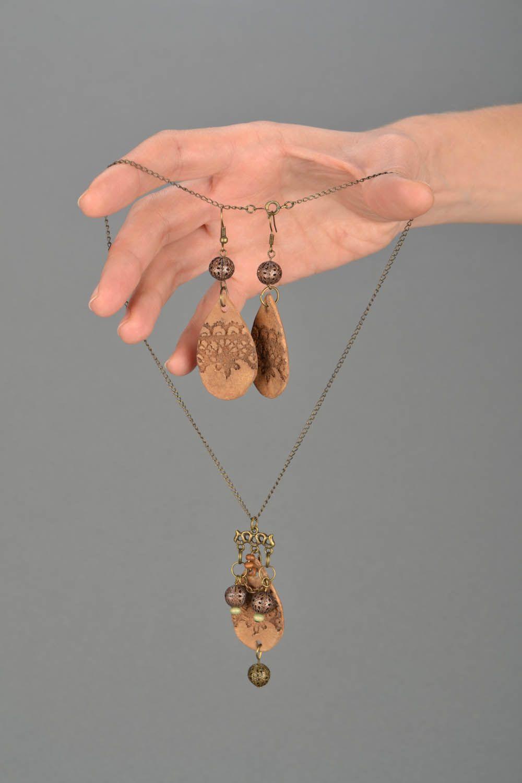 Set of clay jewelry Ethnic photo 2