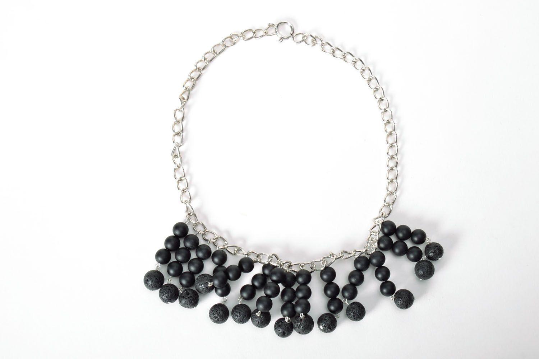 Black handmade necklace  photo 2
