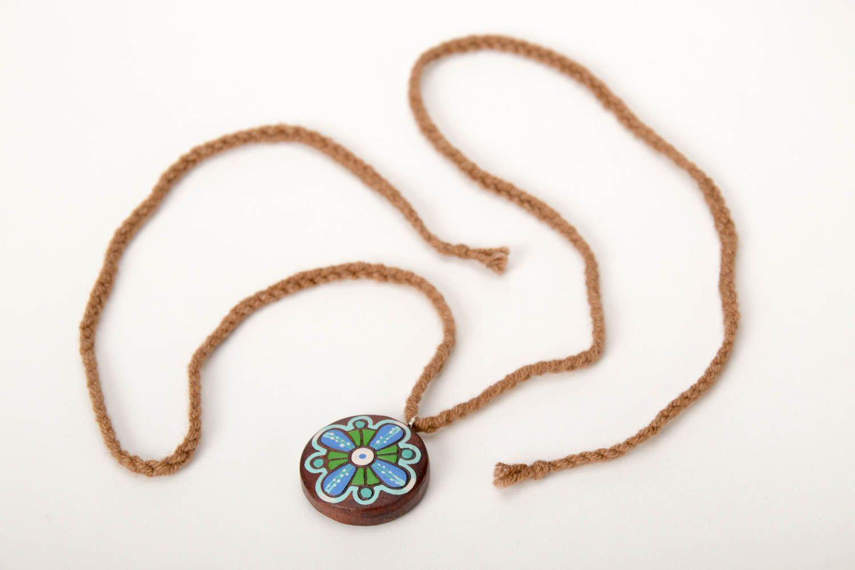 Handmade Accessory Wooden Pendant Unusual Jewelry Designer Pendant for Women