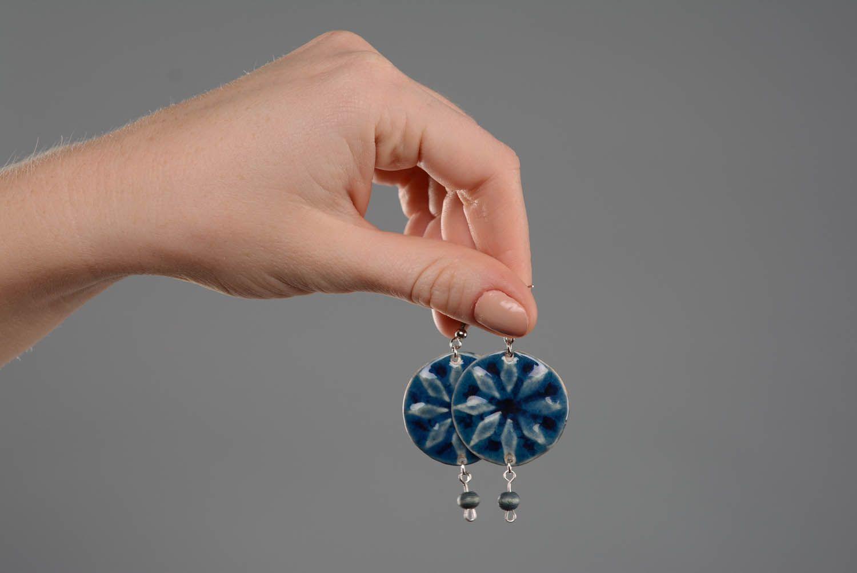 Keramik Ohrringe-Amulett Frauen Alatyr foto 1