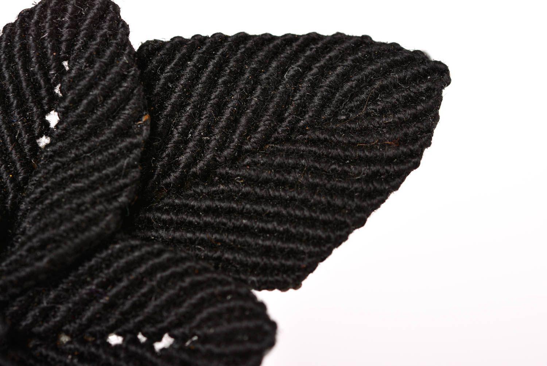Haar Spange handgemacht Mode Accessoire in Schwarz Geschenk für Mädchen stilvoll foto 5