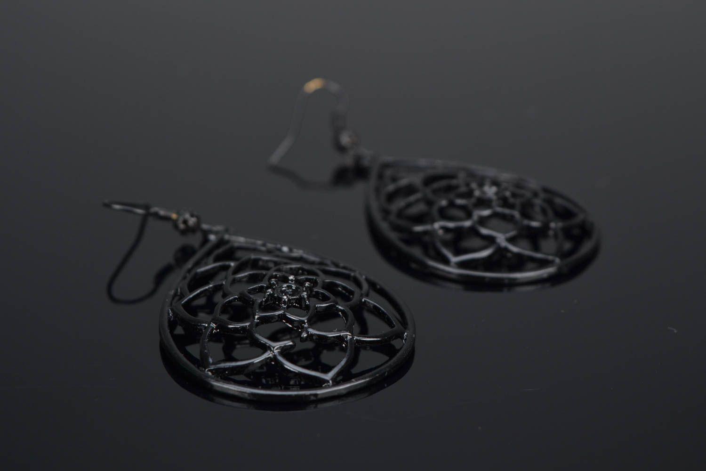 Metal earrings Roses photo 1