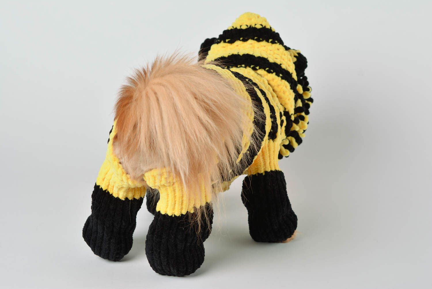 Handmade knitted suit for dogs bright designer clothes for pets cute accessory photo 4