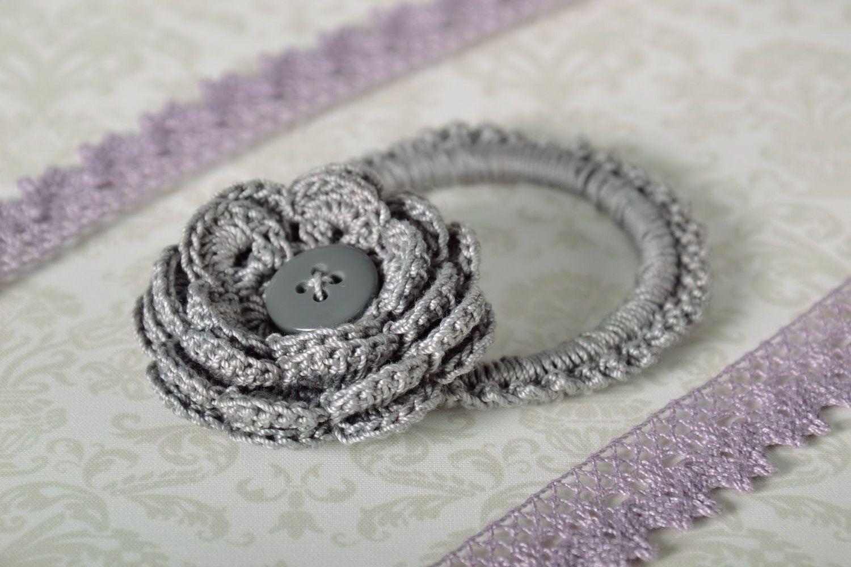 scrunchies Gray scrunchy  - MADEheart.com