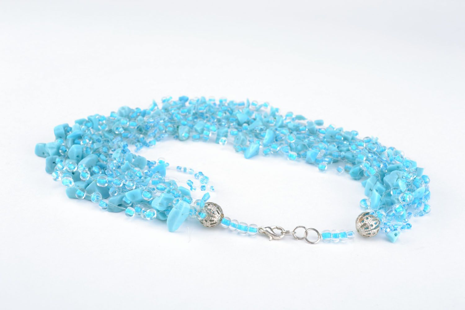 Necklace with turquoise and beads photo 3