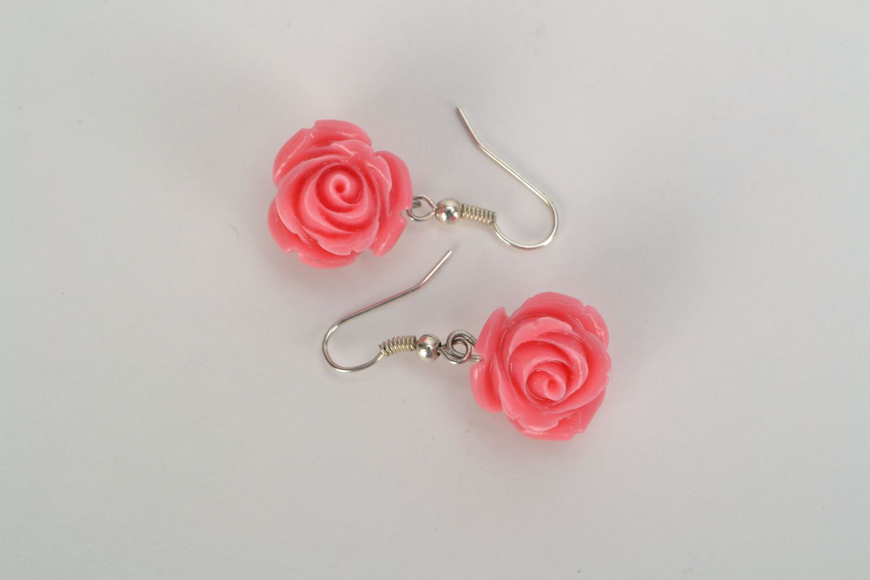 Dangling earrings Roses photo 3