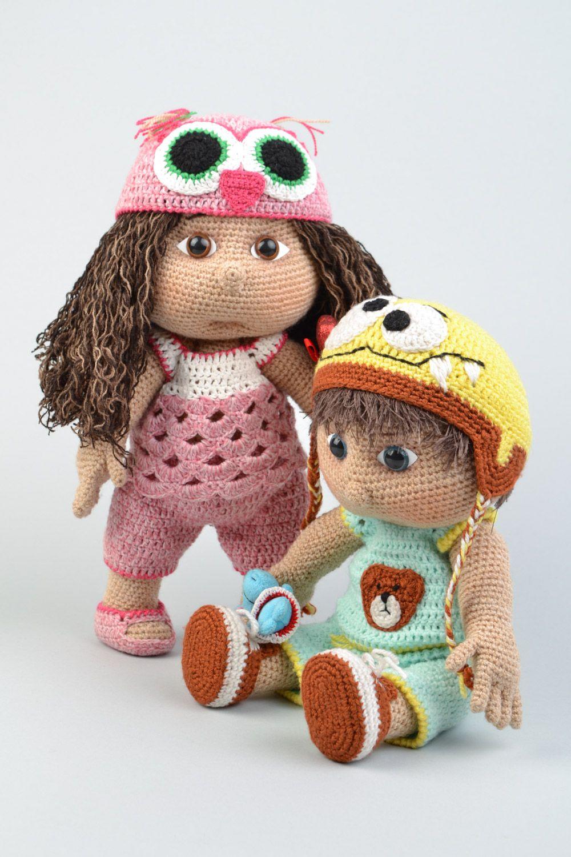 Мягкие игрушки вязаные