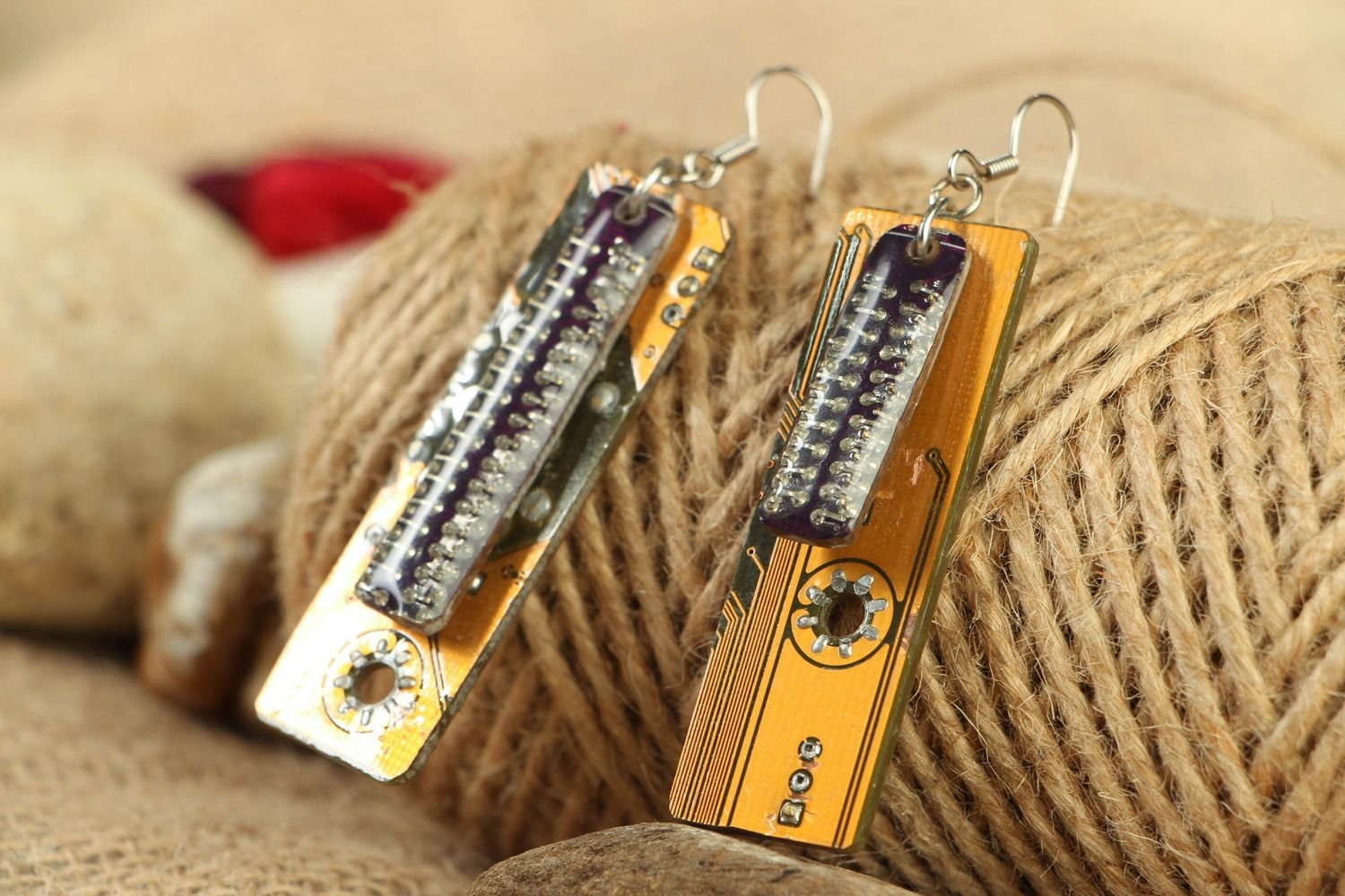 Designer long cyberpunk earrings photo 4