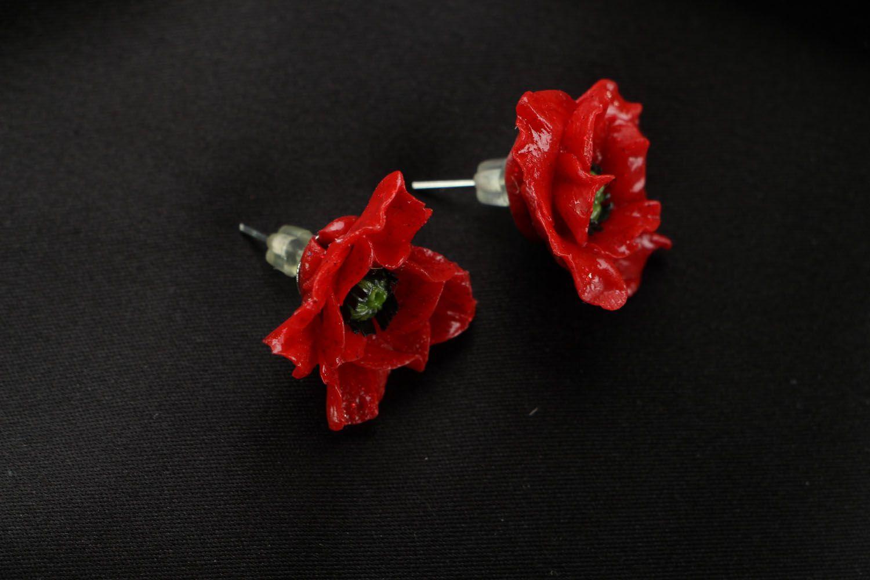 Unusual homemade earrings photo 2