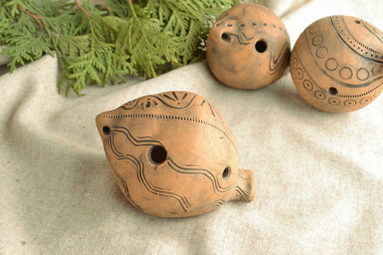 Ceramic penny whistle photo 1