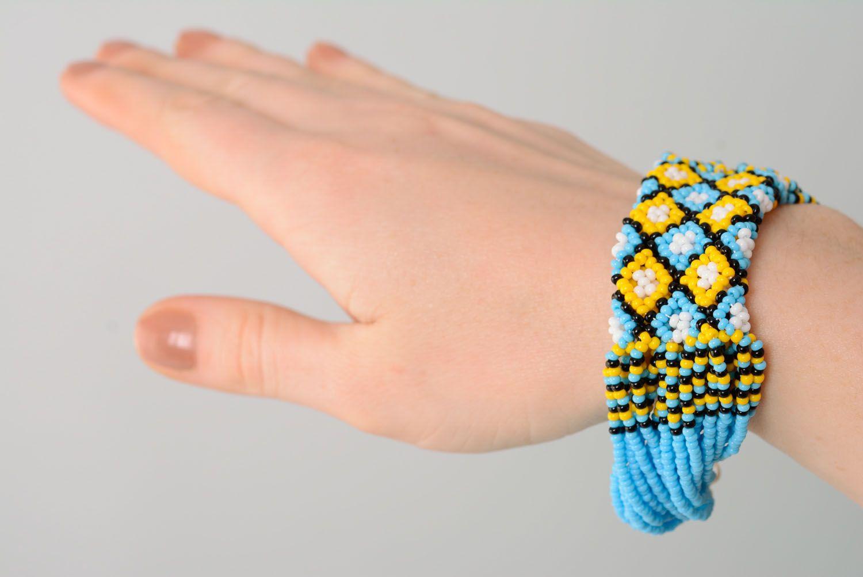 Широкий браслет на руку Этно фото 4