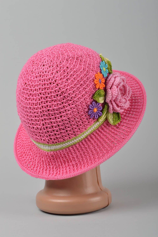 Sombrero tejido a crochet artesanal prenda para la cabeza accesorio para  niña - MADEheart.com 29e4185f722