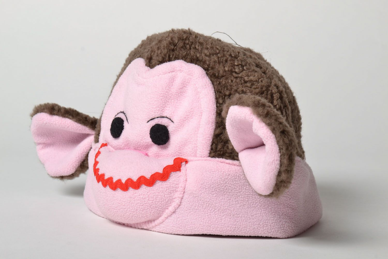 Unusual children's hat Monkey photo 3