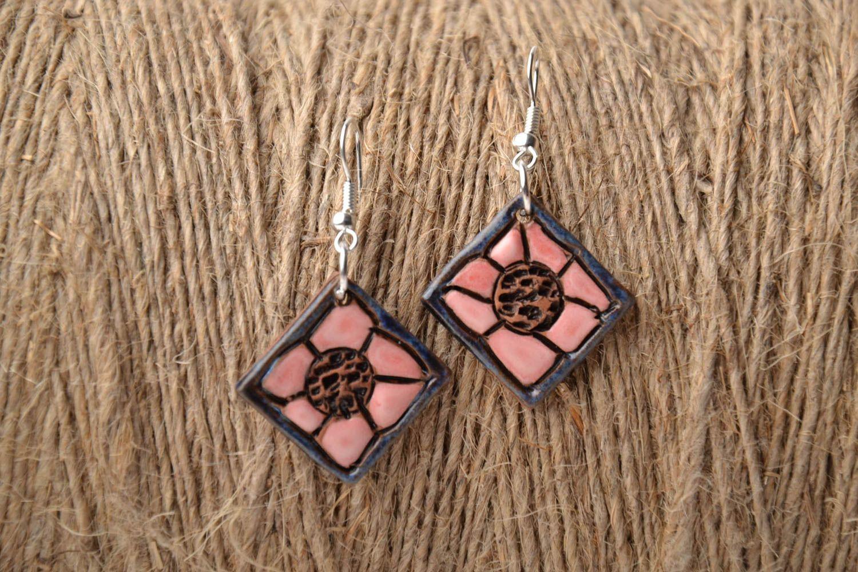 Unusual ceramic earrings photo 1