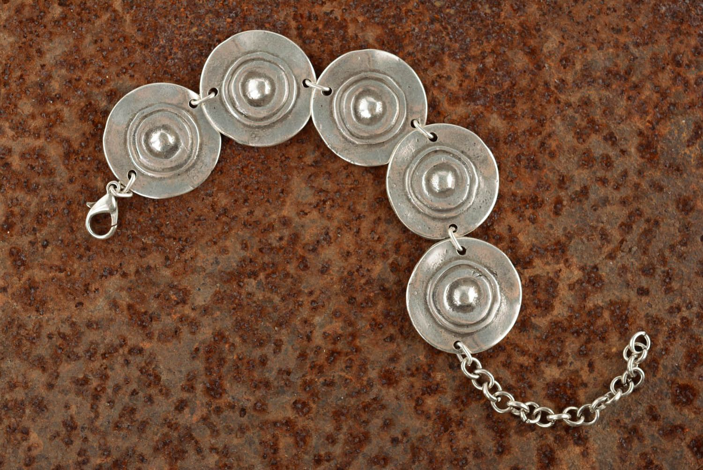 Металлический браслет Тарелочки фото 1