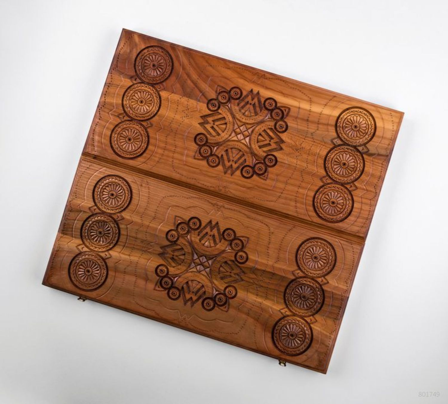 Wooden set for playing backgammon photo 4