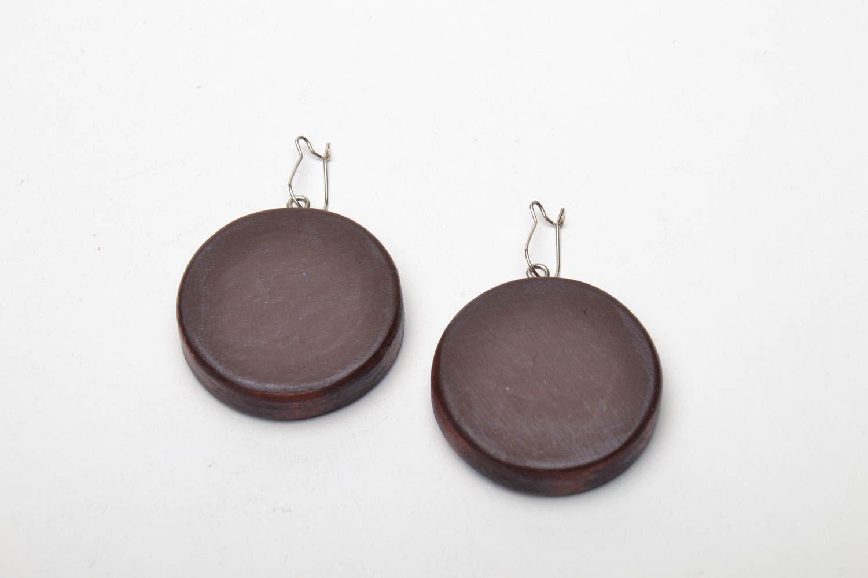 Homemade wooden earrings Birds photo 4