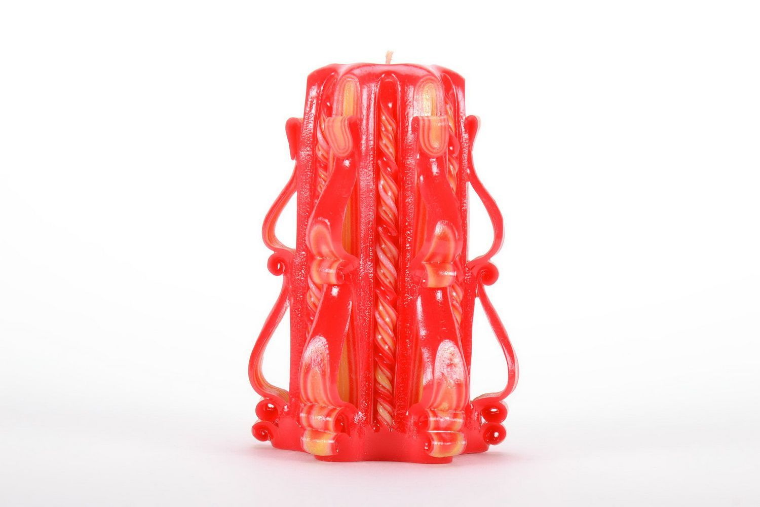 handmade candles Carved paraffin wax candle