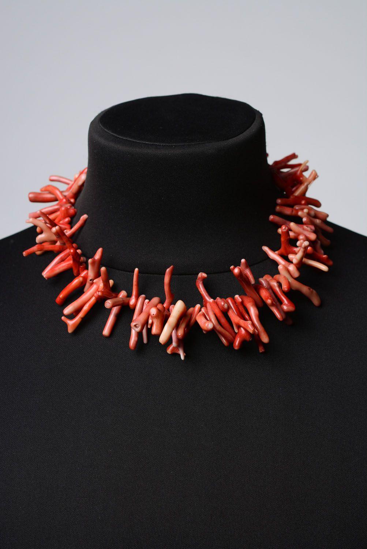 Handmade Collier aus Koralle  foto 2