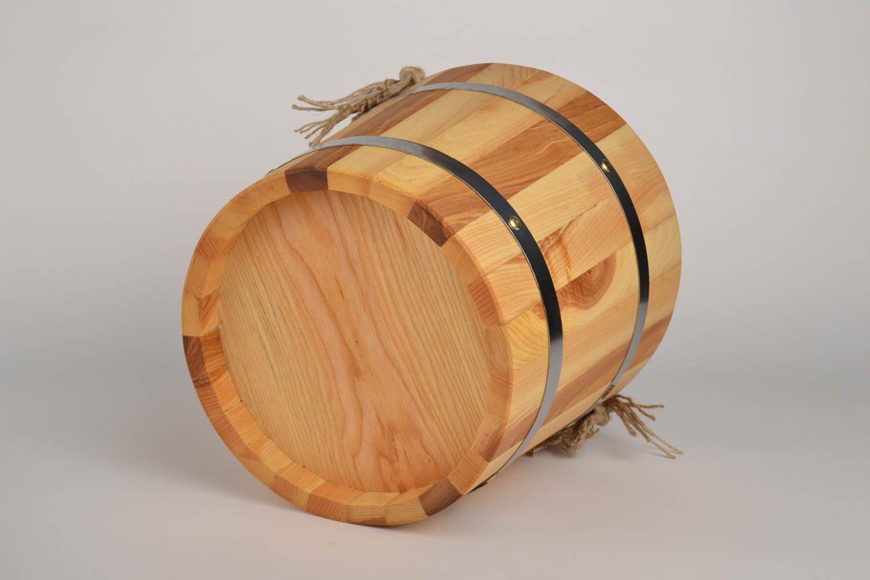 Handmade bucket made of wood sauna accessories sauna bucket present for men photo 1