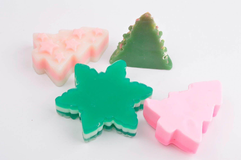 Handmade soap natural cosmetics christmas tree soap Christmas soap set  photo 3