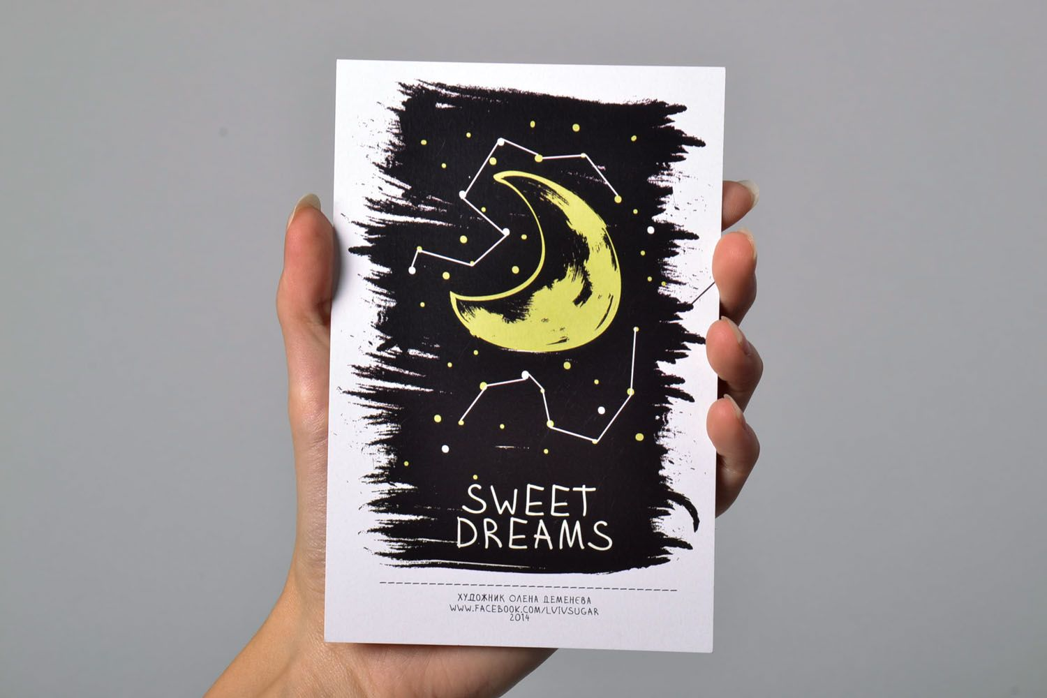 Post card with author's drawing Sweet Dreams photo 5