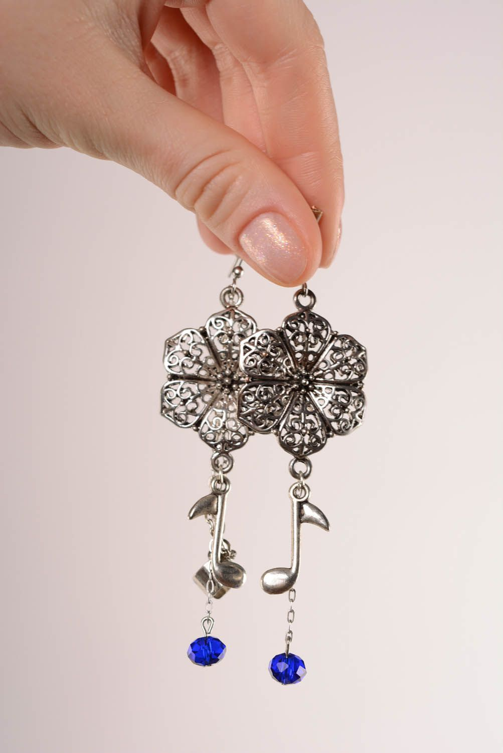 Long cuff earrings Floral Melody photo 4
