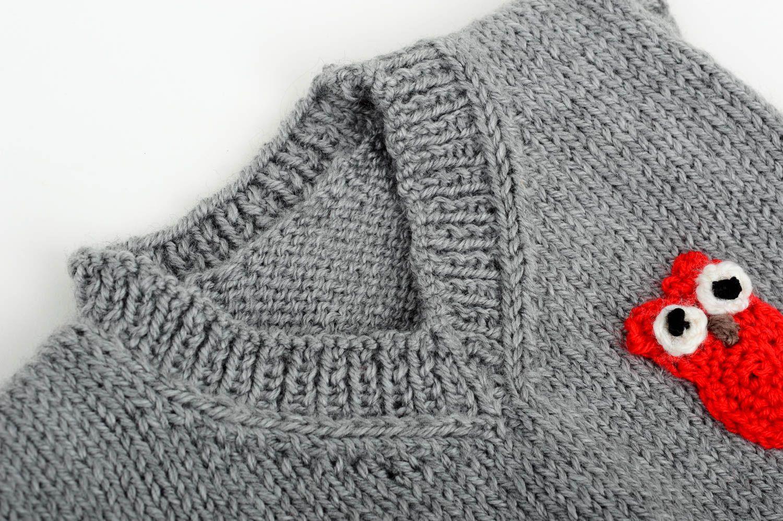Chaleco tejido a mano con lechuza ropa de moda artesanal regalo para niños  - MADEheart. 66f054d4136f