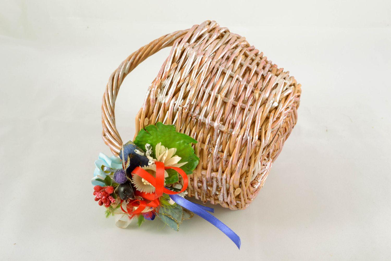 Madeheart peque a cesta de mimbre con flores - Cestas de mimbre pequenas ...