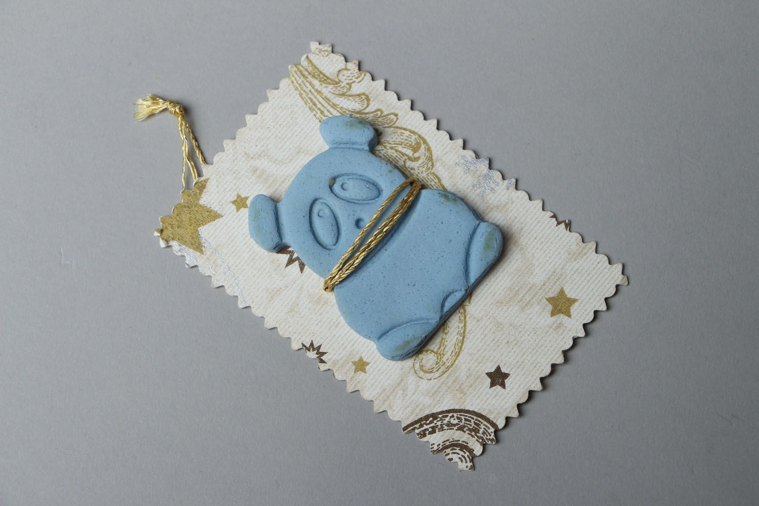 Flavored cookie in the shape of panda photo 1