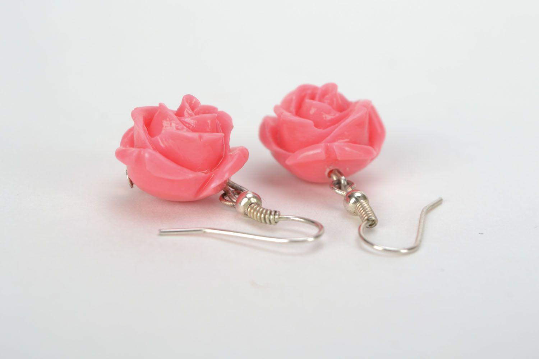 Dangling earrings Roses photo 5
