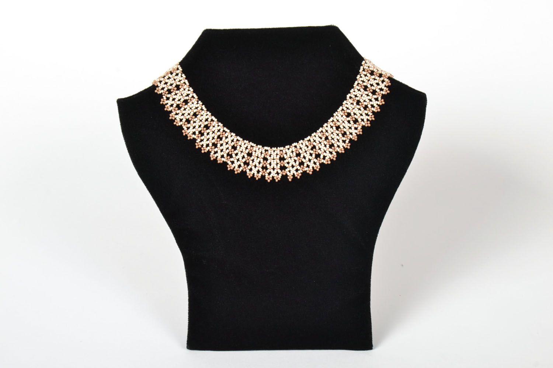 Handmade beaded necklace photo 1