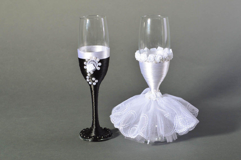Бокалы на свадьбу своими руками жених и невеста