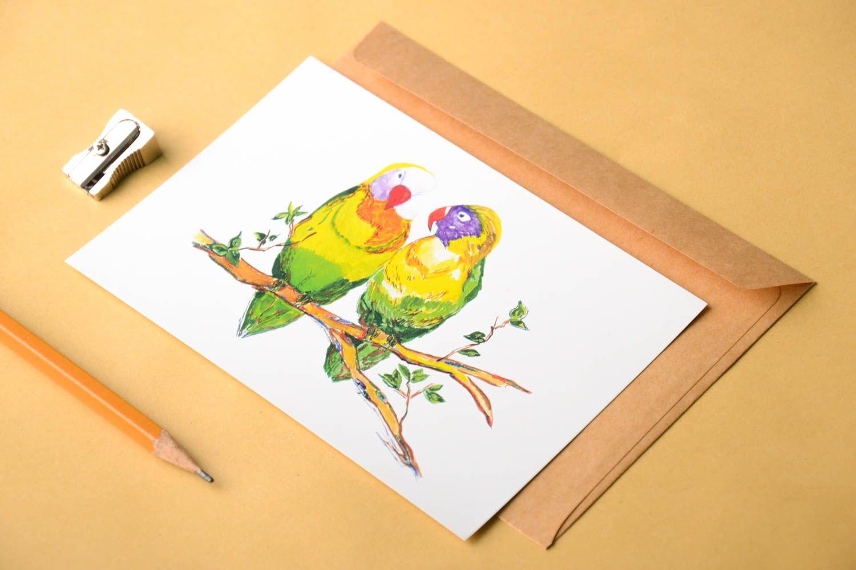 Handmade card unusual greeting card designer card collectible card handmade gift photo 1
