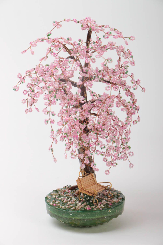 tischdekor deko topiary aus glasperlen baum fr interieur nicht gro haus dekor handmade madeheart