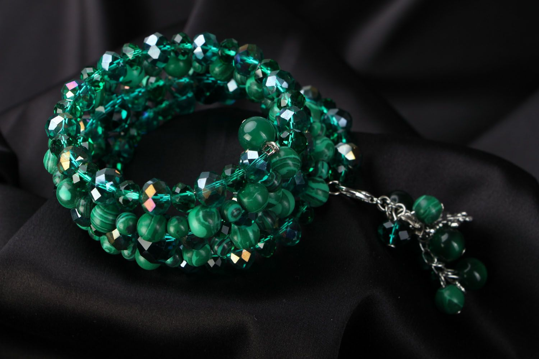 Wide bracelet Emerald photo 2