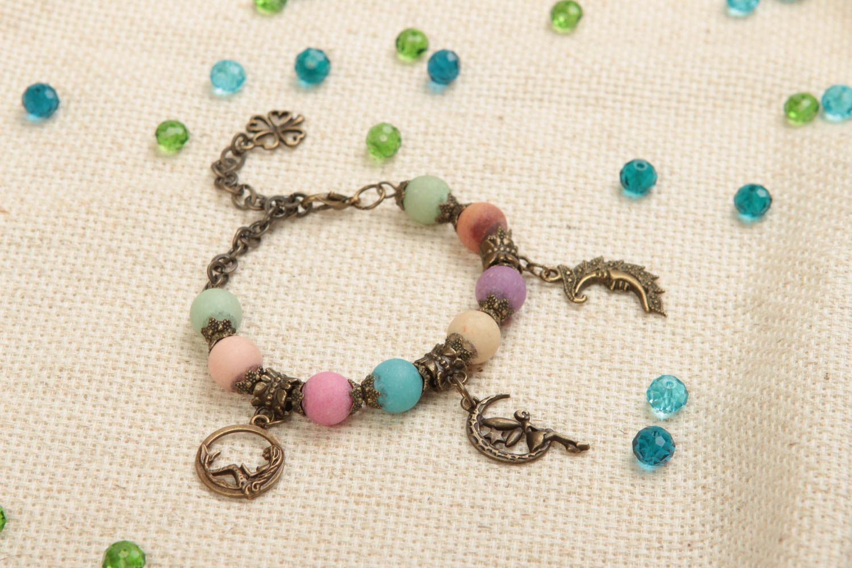 Beautiful handmade beaded bracelet gemstone bracelet fashion accessories photo 1