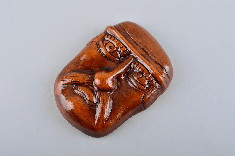 Handmade Keramik Figur Ton Maske Wohnzimmer Deko Wand Deko ...