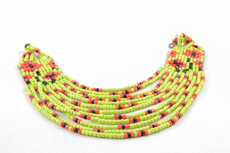 Multirow beaded necklace in ethnic style photo 5