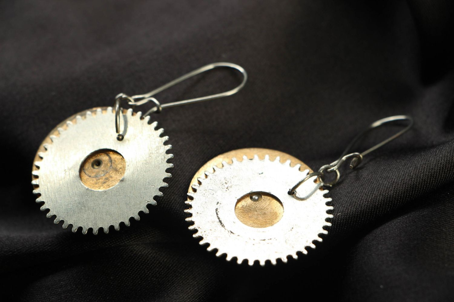 steampunk earrings Steampunk metal earrings - MADEheart.com