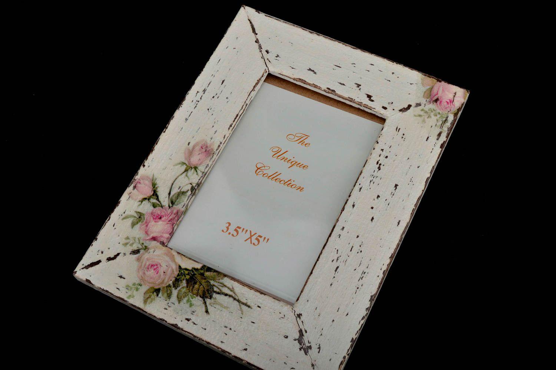 Unusual wooden photo frame handmade stylish photo frame home decor ideas photo 2