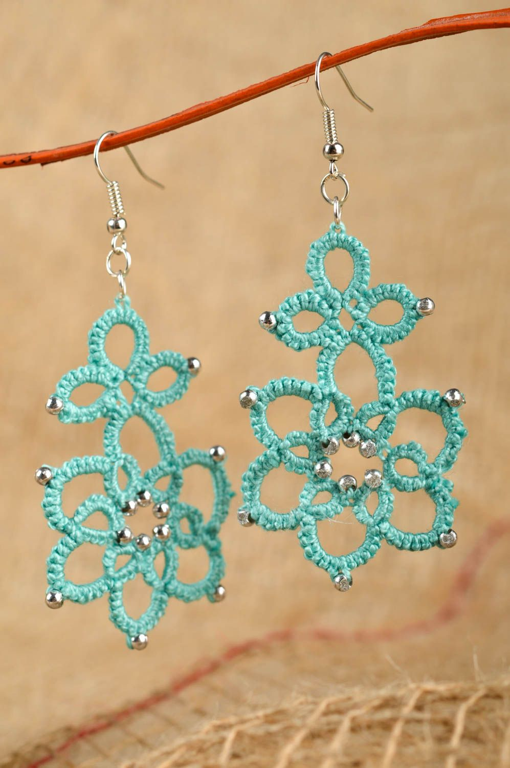 shop earrings oxfam zulu buy beaded in blue jewellery